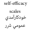 خودكارآمدي عمومي شرر Sherer Self Efficacy